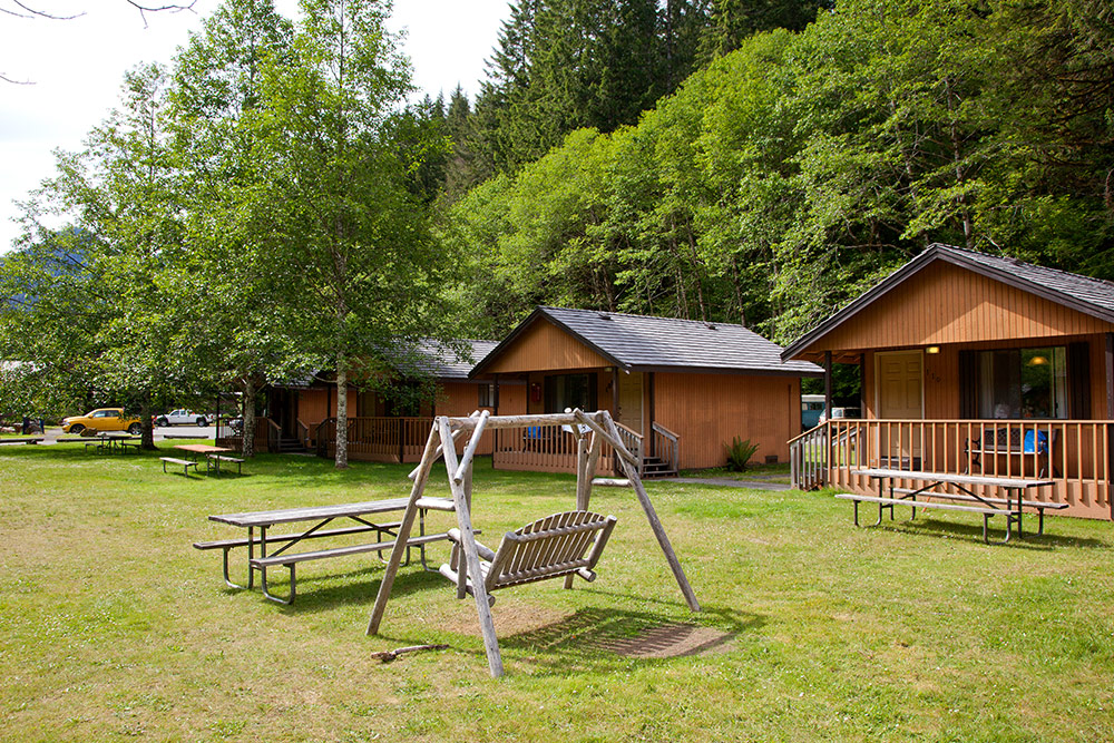 Cabin rentals at sol duc hot springs resort olympic for Washington state cabins for rent