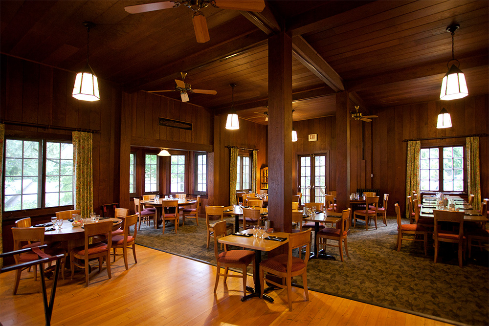 roosevelt dining room at lake quinault lodge olympic national park u0026 forest wa