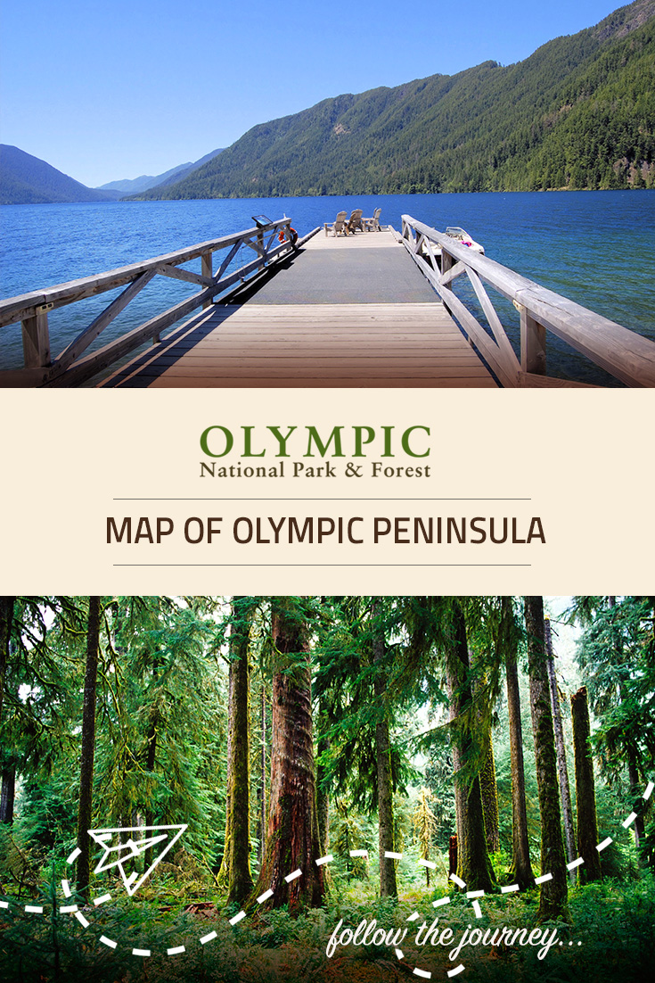 Map of olympic peninsula olympic national park forest wa for Log cabin resort lago crescent wa