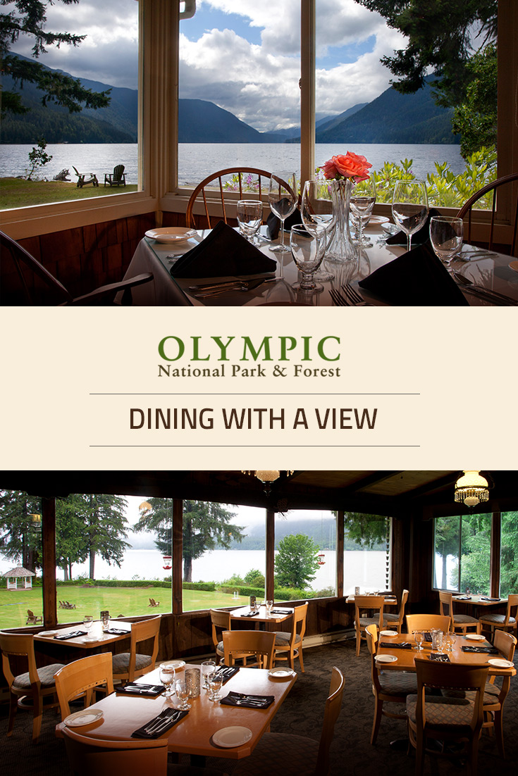 Dining olympic national park forest olympic peninsula wa for Log cabin resort lago crescent wa