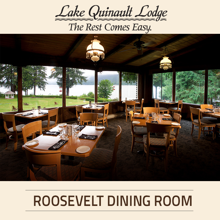 Roosevelt Dining Room At Lake Quinault Lodge