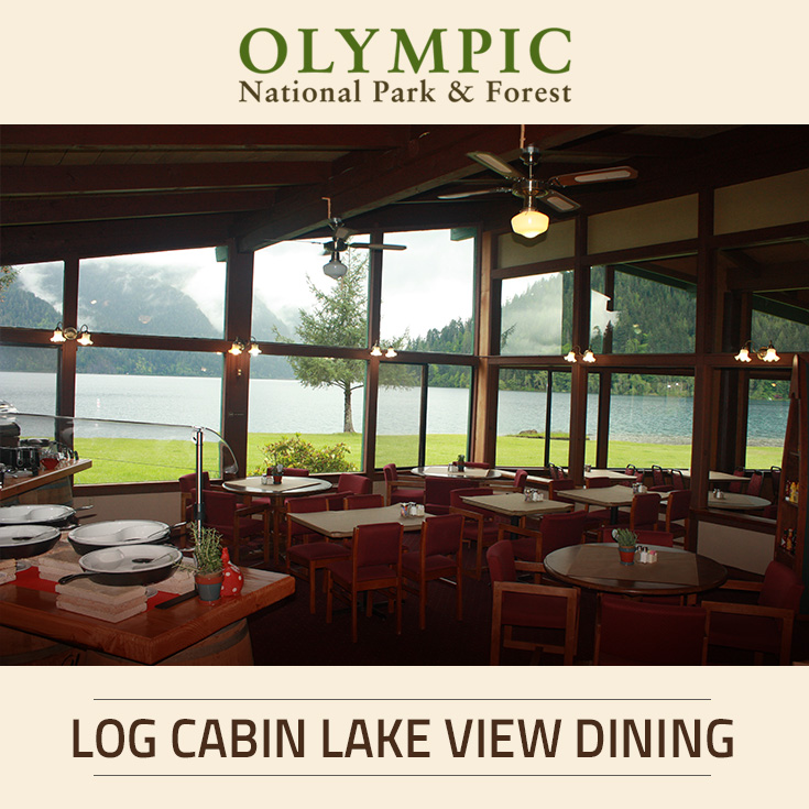 Sunnyside caf dining at log cabin resort olympic for Log cabin resorts