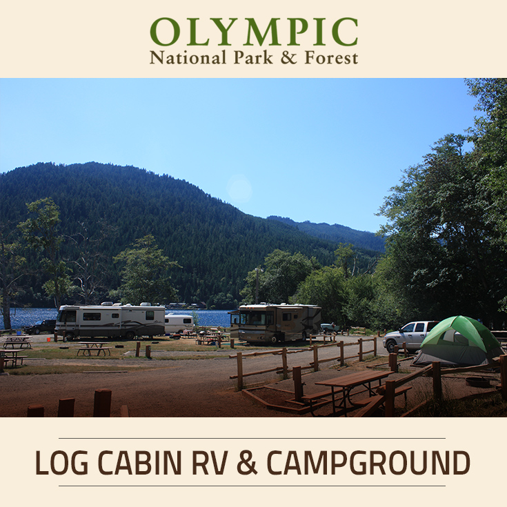 Log cabin resort rv campground olympic national park for Log cabin resort lago crescent wa