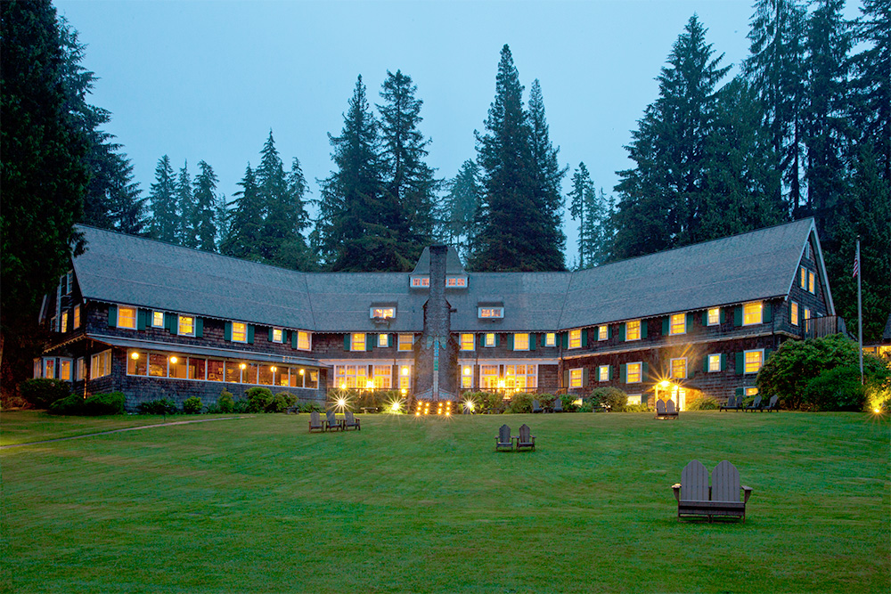 Lake Quinault Lodge at Dusk
